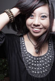 Young Asian woman smiling Royalty Free Stock Photo