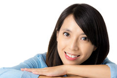 Young asian woman with smiling Royalty Free Stock Images