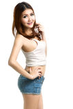 Young asian woman standing Royalty Free Stock Images