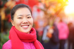 Young asian woman at street Stock Photography