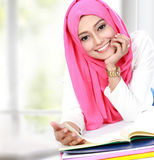 Young asian woman studying Stock Photo
