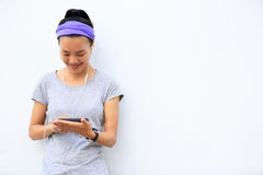 Young asian woman use smartphone Royalty Free Stock Photo