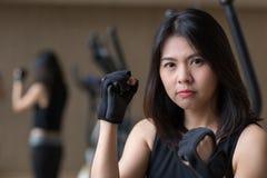 Asian woman workout stock photography