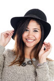 Young Asian woman wearing a hat Stock Photo