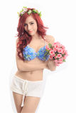 Young Asian woman wearing lingerie Stock Image