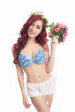 Young Asian woman wearing lingerie Stock Photo