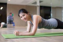 Asian woman workout stock image