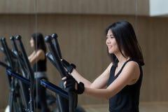 Asian woman workout royalty free stock photos