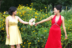 Young Asian women Stock Photography