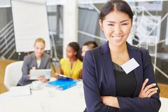 Young asian woman as consultant Royalty Free Stock Photography