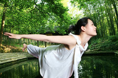 Young asian women doing YOGA Royalty Free Stock Photo