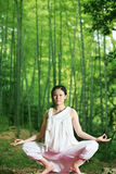 Young asian women doing YOGA Stock Photos
