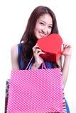 Young asian women holding Box Stock Photos