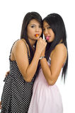 Young asian women with lollipops Stock Photos