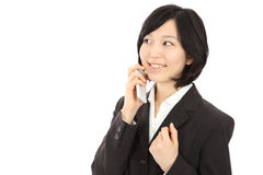 Young Asian women to call Stock Photo