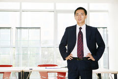 Young asian working in office Royalty Free Stock Images