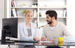 Young assistants working Stock Photography
