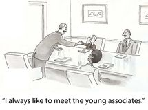 Young associates Stock Photo