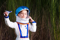 Young astronaut stock images