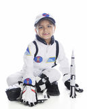 Young Astronaut with Rocket Stock Images