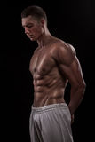 Young athlete bodybuilder man Stock Photo