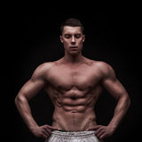 Young athlete bodybuilder man Royalty Free Stock Photography