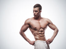 Young athlete bodybuilder man Royalty Free Stock Image