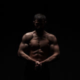 Young athlete bodybuilder man Stock Photography