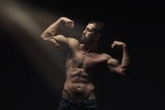 Young athlete bodybuilder man Royalty Free Stock Photos