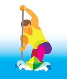 A young athlete is a canoeist Stock Photo