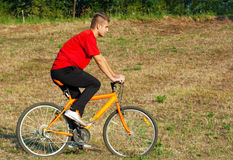 Young athlete man cycling outdoor stock images