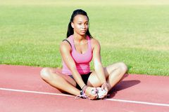 Young  athlete Stock Images