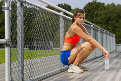 Young Athlete Relaxing Royalty Free Stock Image