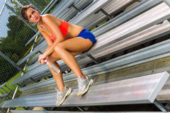 Young Athlete Relaxing Stock Image
