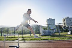 Young athlete running Royalty Free Stock Photo