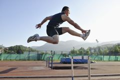 Young athlete running Stock Photos