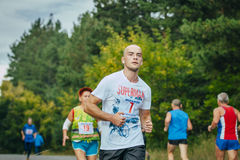 young athlete running in the Park Royalty Free Stock Photography