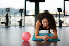 Young athlete spends the day in the fitness center Royalty Free Stock Photos