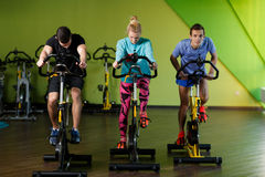 Young athletes in fitness center Stock Photo