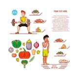 Young athletes training sport with healthy lifestyle icons. Vector illustration design Royalty Free Stock Photos