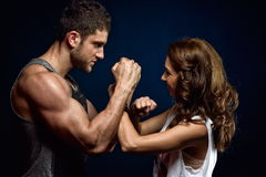 Young athletic couple Royalty Free Stock Photo