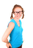 Young athletic girl with a funny eyeglasses Stock Photo