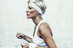 young athletic girl running Royalty Free Stock Image