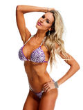 Young athletic girl with sexy body in bikini. Young beautiful athletic girl in sexy bikini. Sport and fitness concept Royalty Free Stock Photo