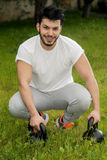 Young athletic male mode Royalty Free Stock Images