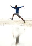 Young athletic male running Royalty Free Stock Photos