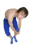 Young athletic man exercising Royalty Free Stock Photos