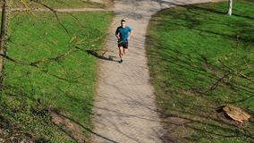 Workout jogging activity stock footage