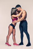 Young Athletic people kissing Royalty Free Stock Images