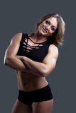 Young Athletic woman body builder portrait Royalty Free Stock Photo